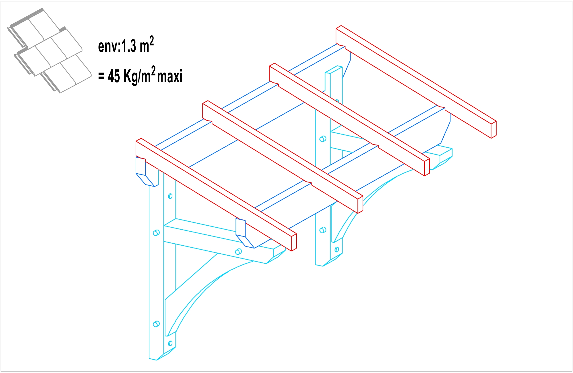 auvent bois 1 pente construction auvent bois martin charpentes. Black Bedroom Furniture Sets. Home Design Ideas