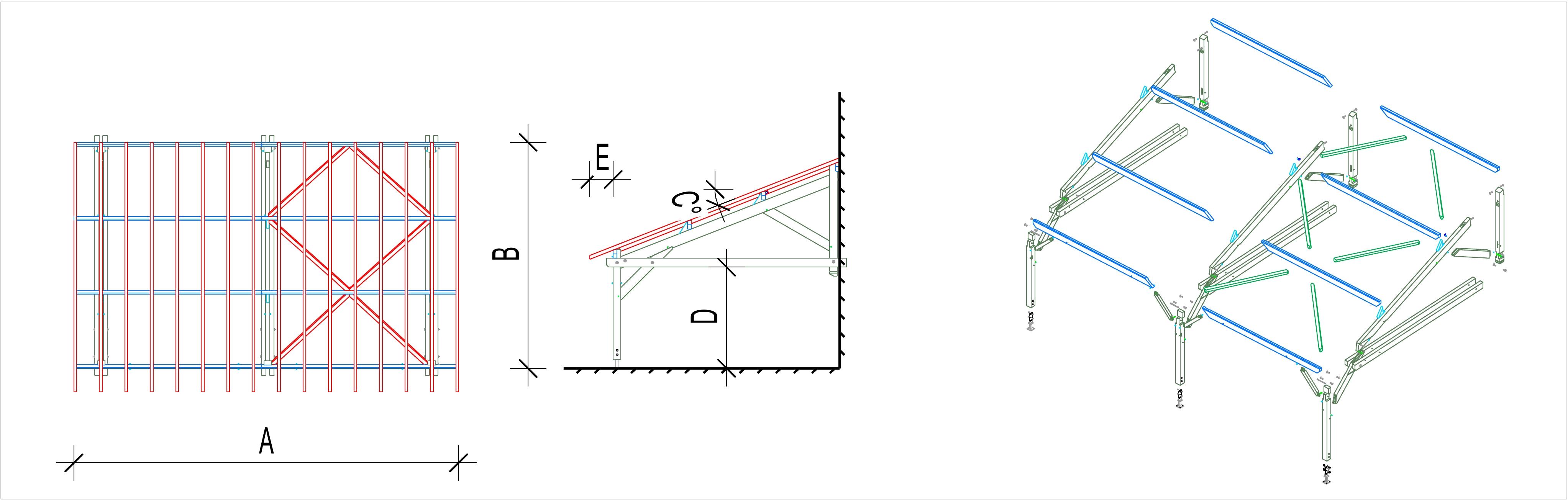 arbi bois monopente abri jardin bois martin charpentes. Black Bedroom Furniture Sets. Home Design Ideas