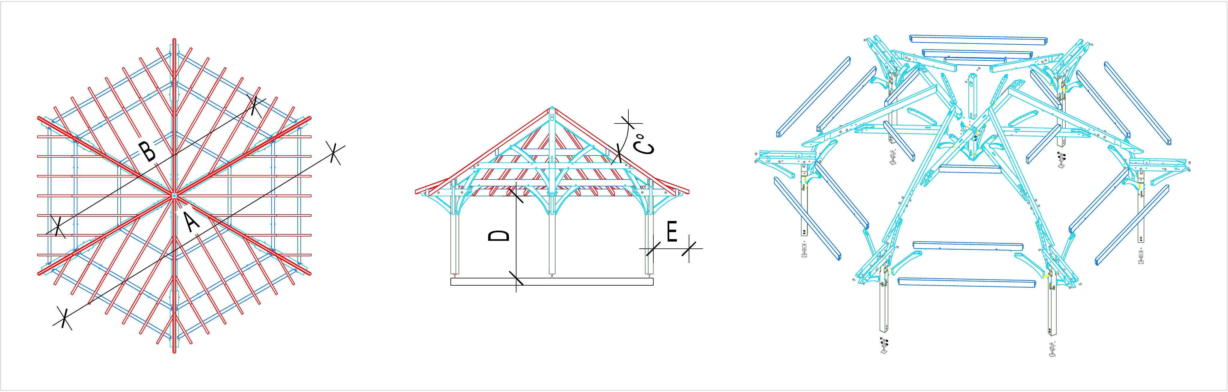 Kiosque En Bois Hexagonal kiosque bois hexagonal - kiosque jardin – martin charpentes