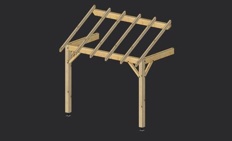 porche bois construction porche structure bois martin charpentes. Black Bedroom Furniture Sets. Home Design Ideas