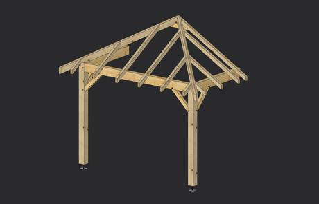 Construire Un Porche D Entrée porche bois - construction porche structure bois – martin charpentes