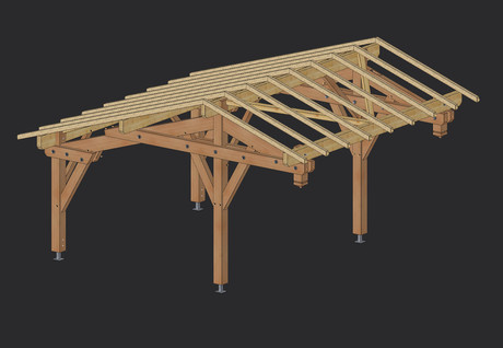 carport abri voiture construction carport bois martin charpentes. Black Bedroom Furniture Sets. Home Design Ideas