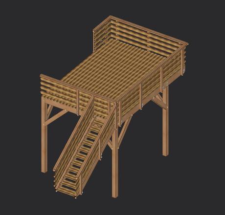 TERRASSE sur structure bois avec escalier