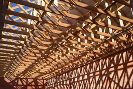 Entreprise construction bois : charpente fermette d'un restaurant scolaire - Martin charpentes