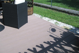 Terrasse en bois composite dans le 54