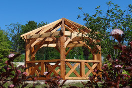 Entreprise construction structure en bois extérieur : kiosque en charpente traditionnelle - Martin charpentes