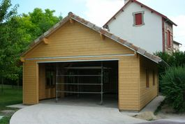 Garage en ossature bois