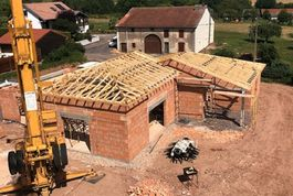 Entreprise de construction bois : charpente industrielle et traditionnelle, pavillon menil sur Belvite, Vosges – Martin charpentes