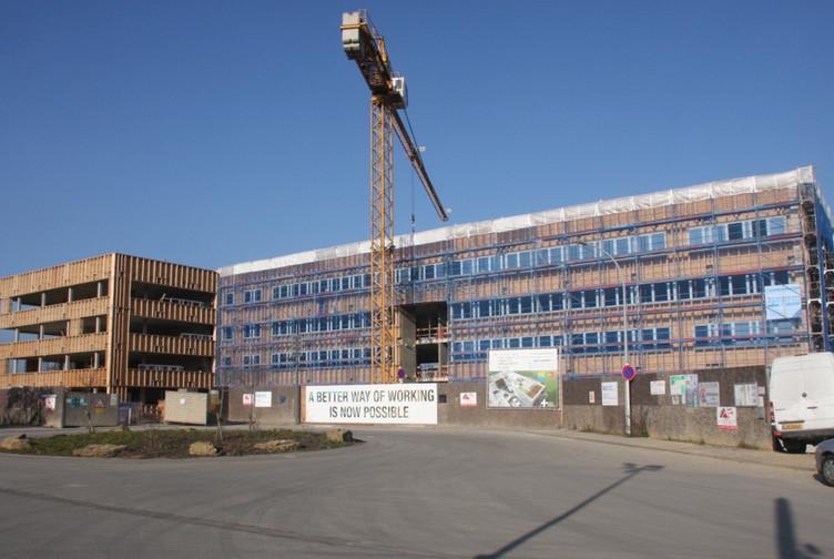 Bâtiment SOLARWIND en cours de construction
