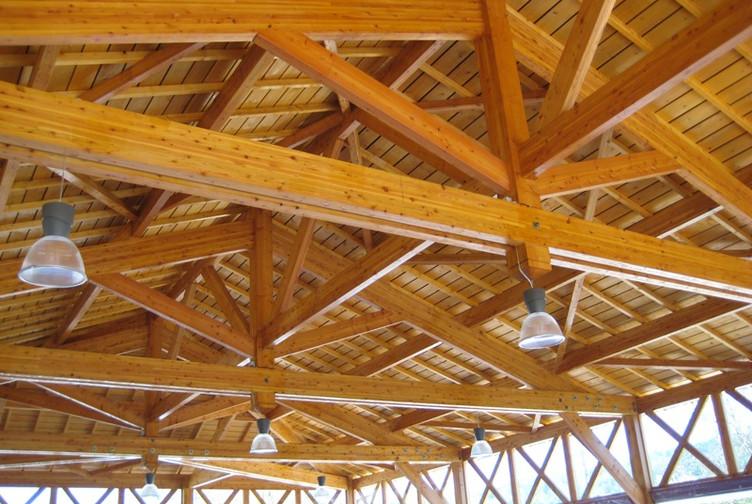 Entreprise construction bois en Lorraine : halle couverte en charpente traditionnelle, Meurthe et Moselle - Martin charpentes