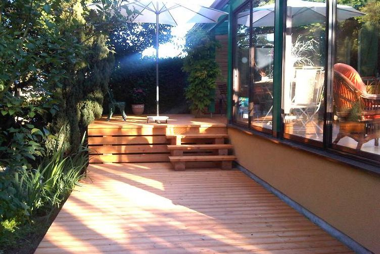Terrasse bois, Terrasse en platelage bois, Meurthe et Moselle,  - 1_1 - Martin Charpentes