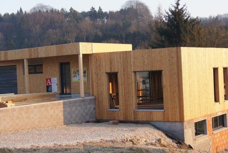 Maison Contemporaine En Bois Bardage Bois Meuse Martin Charpentes