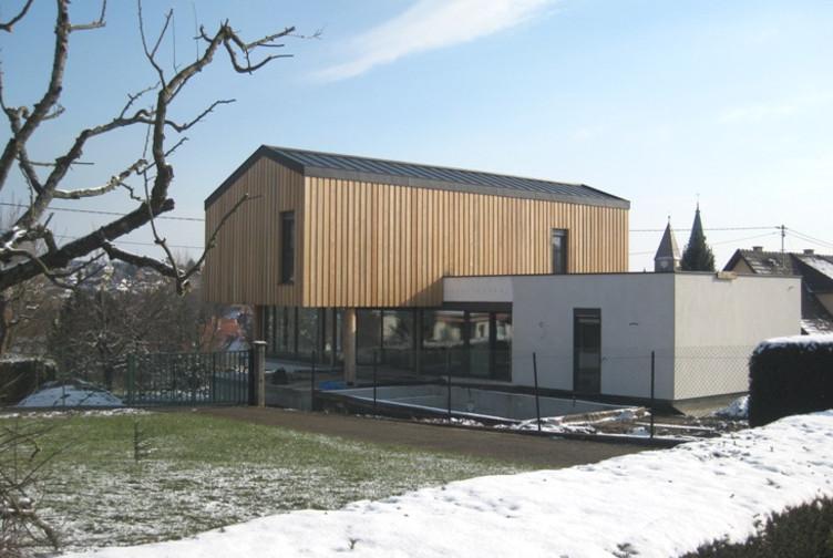 entreprise construction maisons bois maison contemporaine maison individuelle alsace martin charpentes - Architecture Contemporaine Maison Individuelle