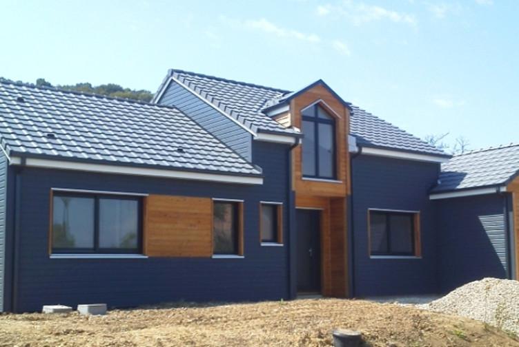 Entreprise construction maison bois : maison en ossature bois, maison individuelle, Meurthe et Moselle – Martin charpentes
