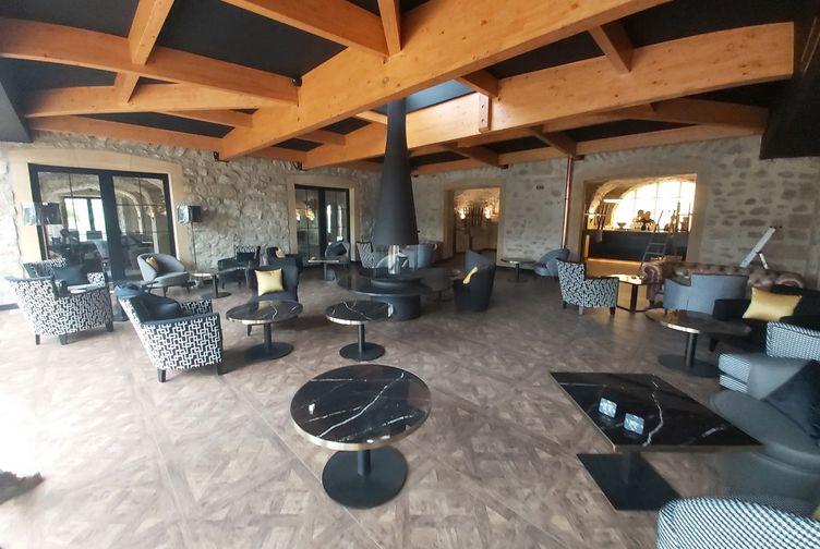 Charpente traditionnelle, Extension du domaine de la Klauss : hôtel - spa bien-être , Moselle, Montenach - 1 - Martin Charpentes