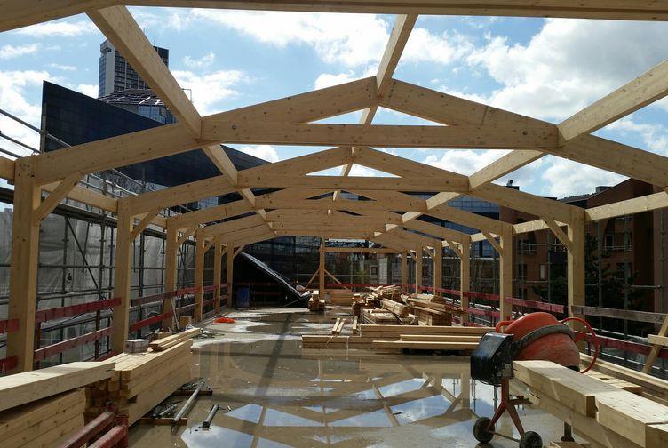 Entreprise de construction Grand Est : extension en ossature bois d'une école, Ile de France – Martin charpentes