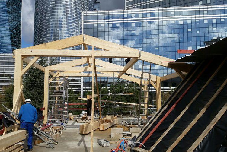 Entreprise de construction Grand Est : extension en ossature bois d'une école, Ile de France 2 – Martin charpentes