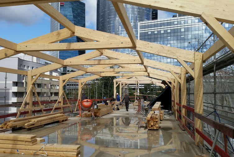 Entreprise de construction Grand Est : extension en ossature bois d'une école, Ile de France 3 – Martin charpentes
