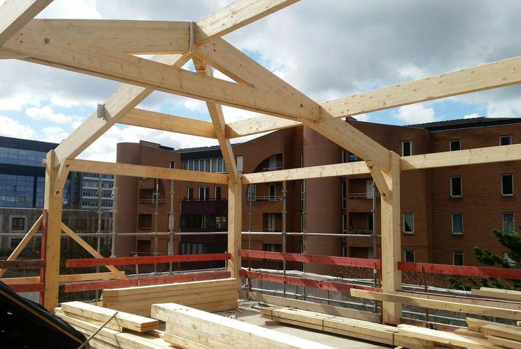 Entreprise de construction Grand Est : extension en ossature bois d'une école, Ile de France 4 – Martin charpentes