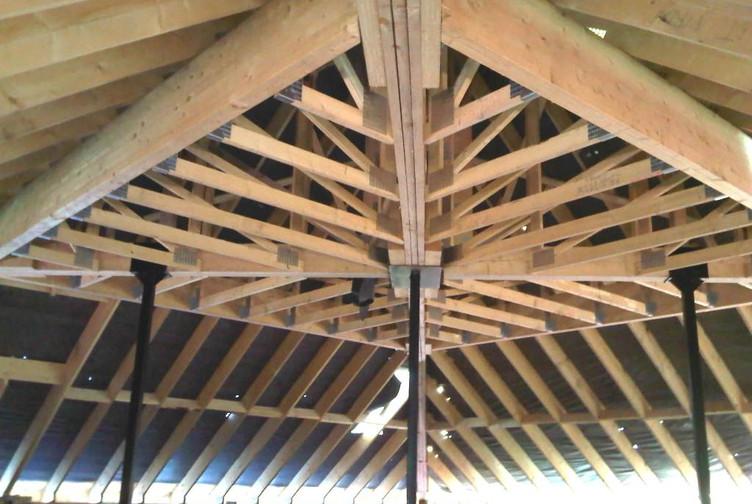 Entreprise construction charpente bois en Lorraine: charpente industrielle logements collectifs - Martin charpentes