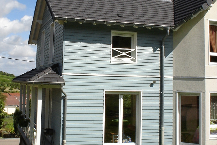 Construction maison en bois Lorraine : maison ossature bois individuelle, Meurthe et Moselle - Martin charpentes