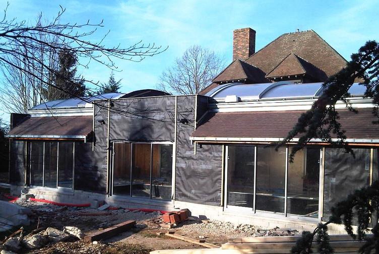 Entreprise construction Grand Est : extension ossature bois, piscine couverte, marne - Martin charpentes