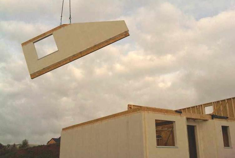 Ossature bois en cours de construction