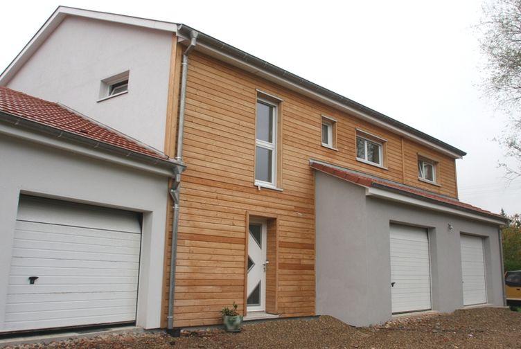 Entreprise de construction bois : maisons mitoyennes & bardage bois, tagolsheim - Martin charpentes