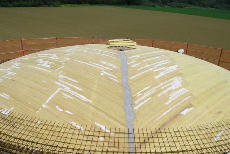 Entreprise construction charpente fermette en Lorraine : coffrage d'un réservoir - martin charpentes