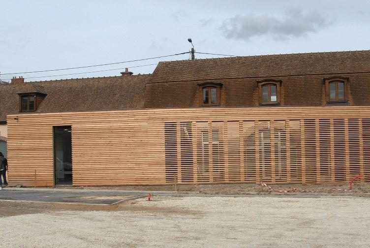 Entreprise construction Grand Est : cabinet médical en bois, bardage bois, Marne - Martin charpentes