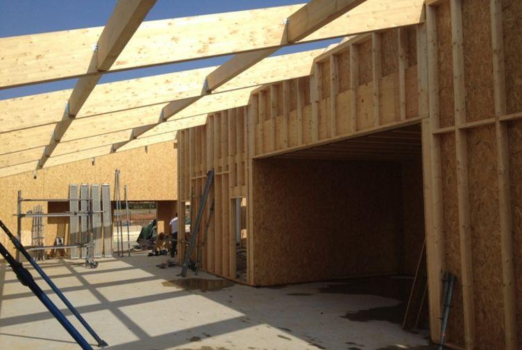 Entreprise de construction bois : pôle de solidarité, ossature, charpente & bardage bois, Ile de France – Martin charpentes