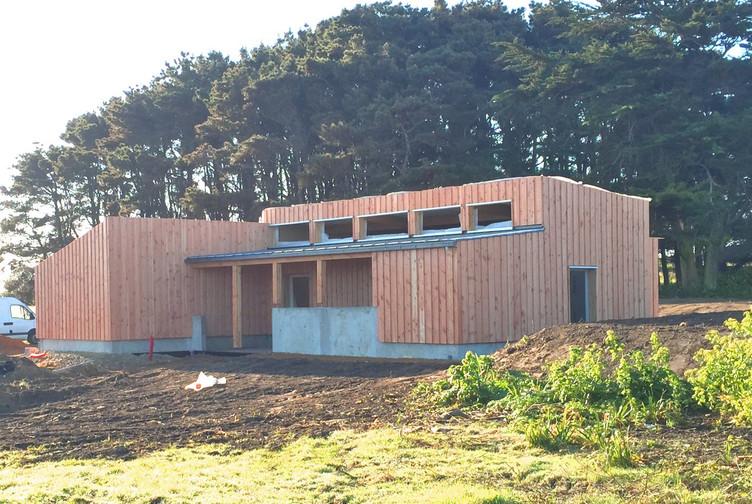 Entreprise construction ossature bois : camping de l'ile de Hoëdic, extension bois – Martin charpentes