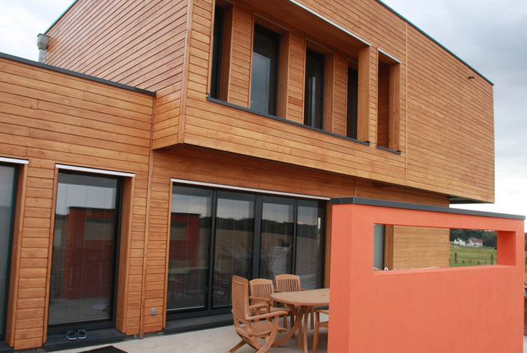 Construction bois Est de la France : maison individuelle contemporaine, Moselle - Martin charpentes