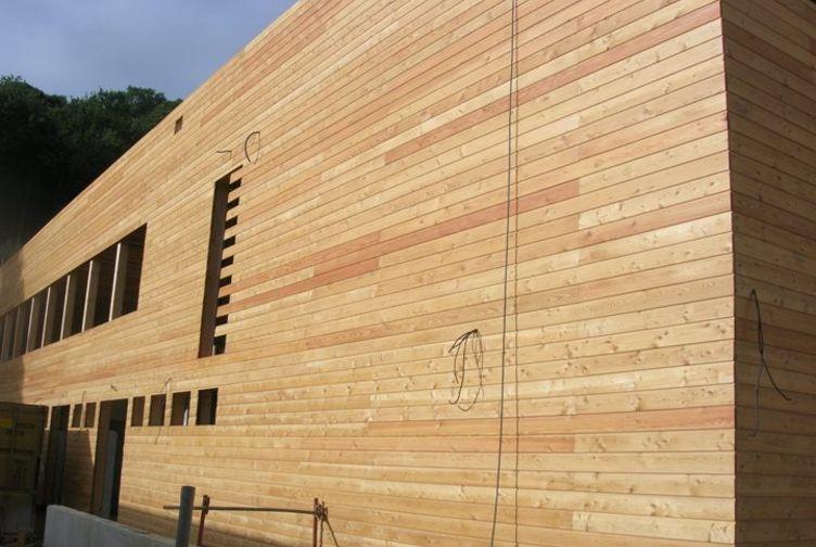 Entreprise construction ossature bois : gymnase, bardage bois, villebon sur yvette, ile de France - Martin charpentes