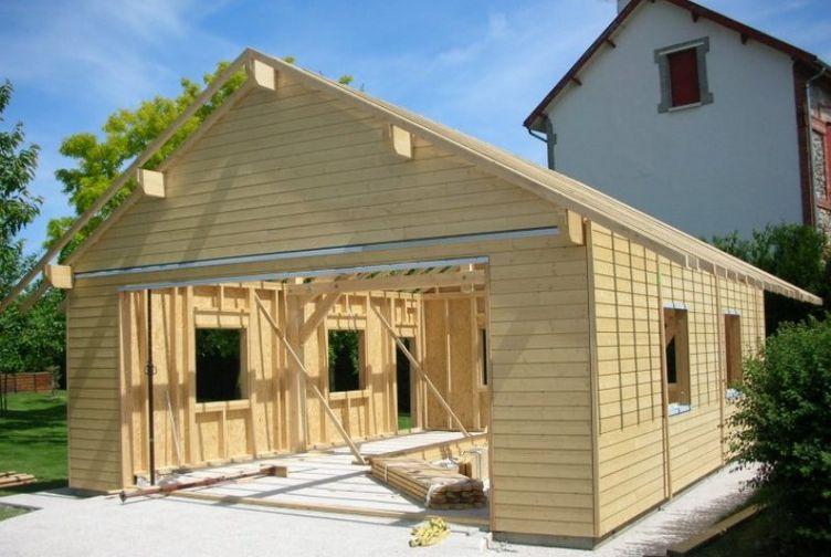 Garage bois / Abri de Jardin, Garage, Marne, SAINTE MEMMIE - 610_1 - Martin Charpentes