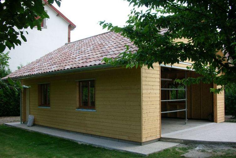 Garage bois / Abri de Jardin, Garage, Marne, SAINTE MEMMIE - 610_3 - Martin Charpentes