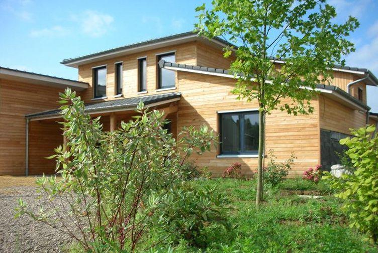 Construction maison ossature bois : maison individuelle, Oudrenne – Martin charpentes