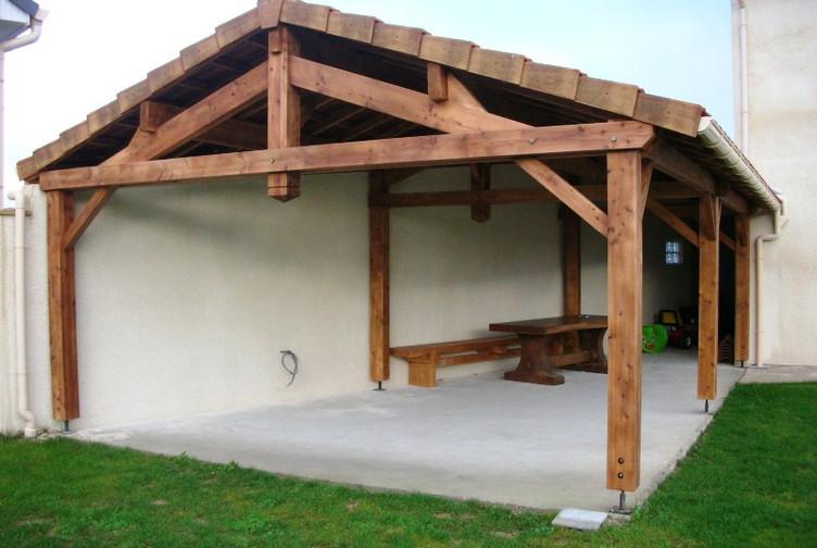 Abri De Terrasse Charpente Traditionnelle  Marne  Martin Charpentes