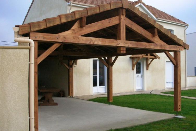 charpente traditionnelle terrasse