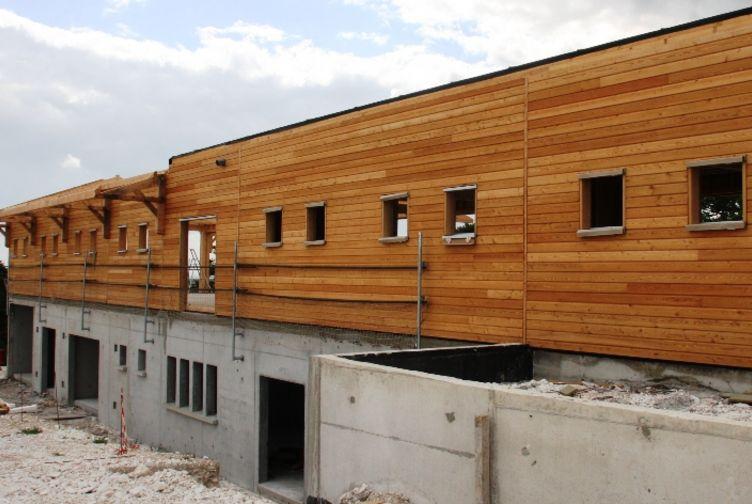 Entreprise construction maisons bois Grand Est : ecopole ossature bois, Huiron, Marne - Martin charpentes