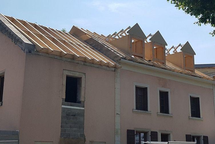 maison en charpente traditionnelle à Fennange (LU)
