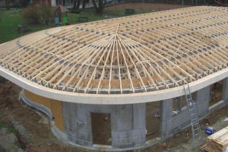 Entreprise construction charpente industrielle & ossature bois : pôle petit enfance Rhône – Martin charpentes