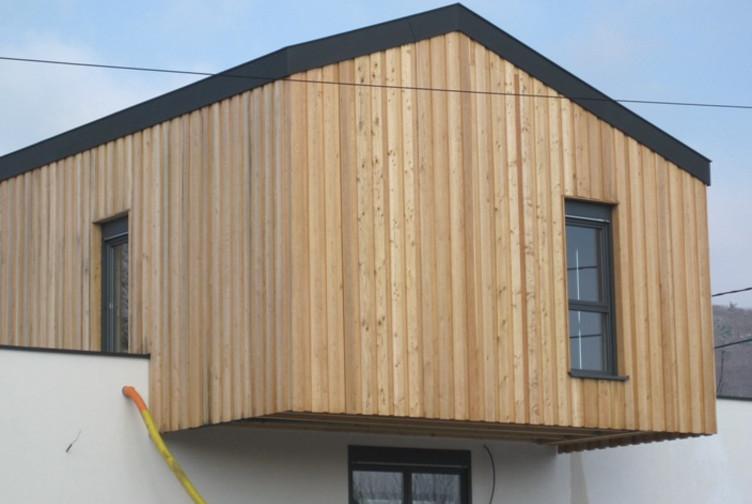 Entreprise construction maisons bois : maison contemporaine, maison individuelle, alsace - Martin charpentes