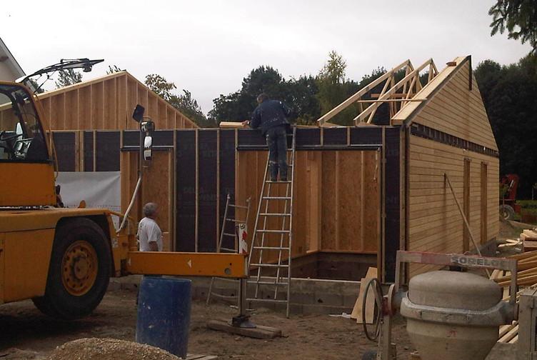 Entreprise construction maison en bois : pavillon ossature bois, maison individuelle, Marne - Martin charpentes
