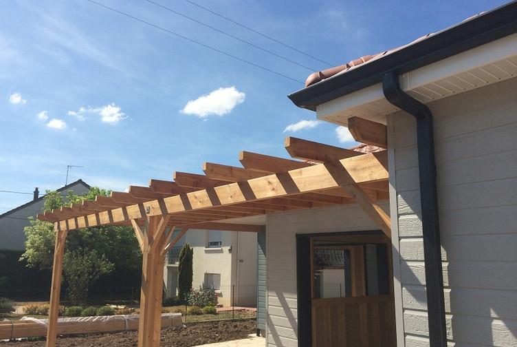 Maison en bois ossature bardage bois bayon martin for Entreprise construction maison bois