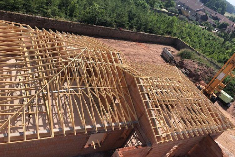 Entreprise de construction bois : charpente industrielle et traditionnelle, pavillon menil sur Belvite, Vosges 3 – Martin charpentes