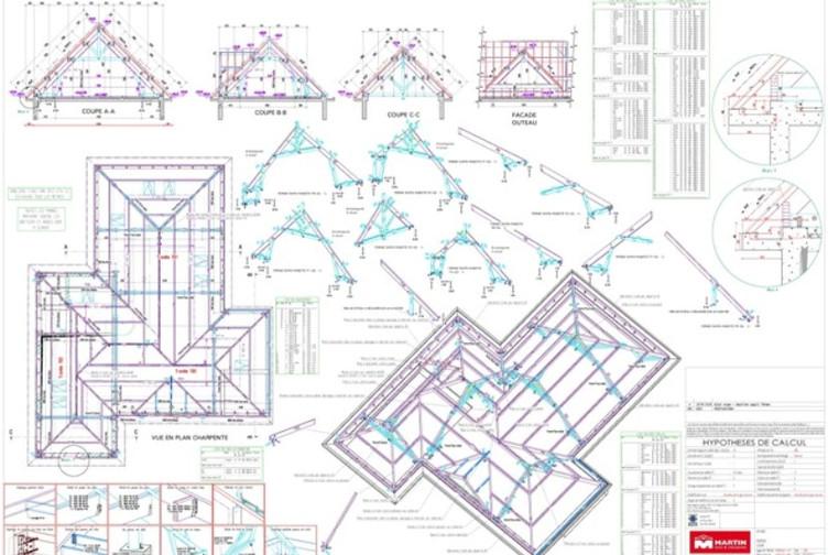Construction maison charpente bois en moselle martin for Entreprise de construction maison en bois
