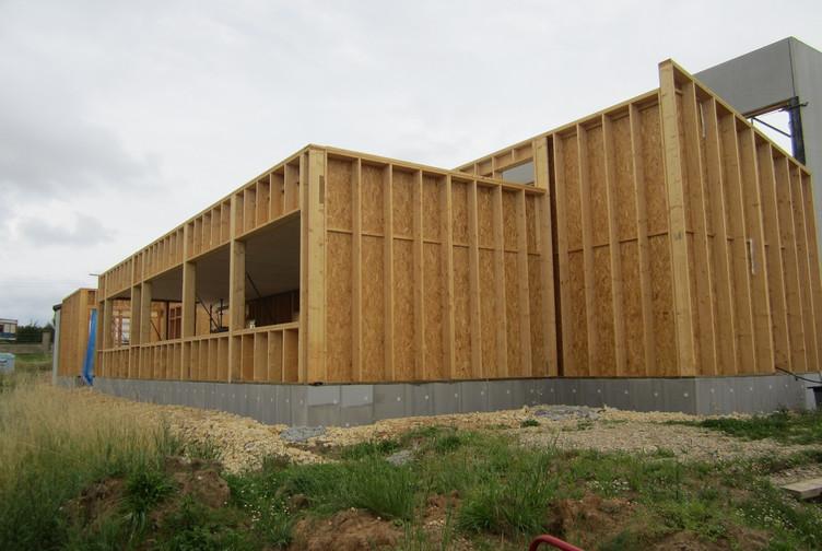 Entreprise construction bois : extension ossature bois, centre de secours et d'incendie - Martin charpentes